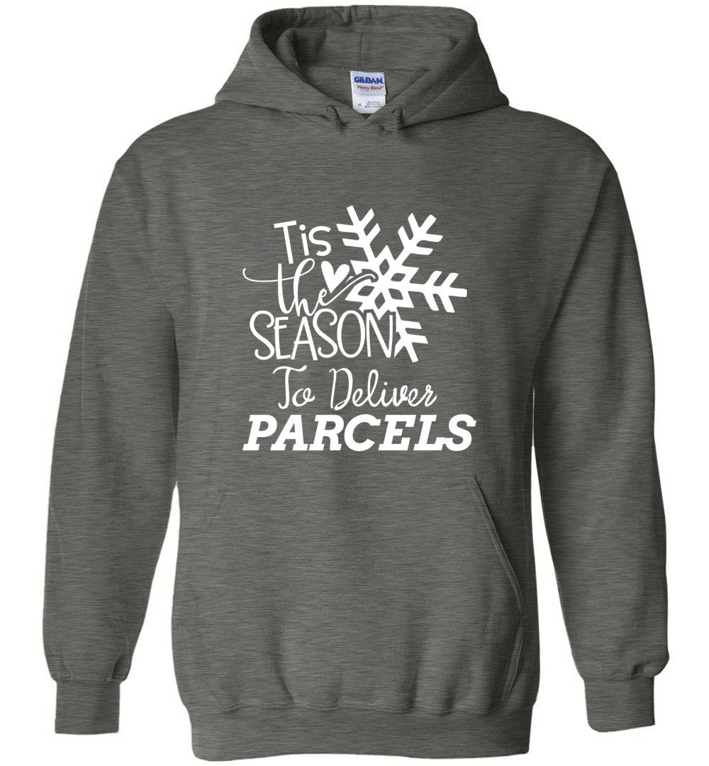 Postal Worker Tees Christmas Hoodie / Dark Heather / S Christmas - Tis the Season to deliver parcels