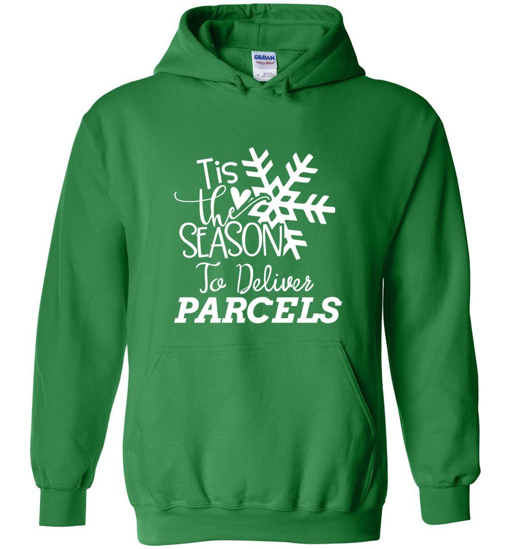 Postal Worker Tees Christmas Hoodie / Irish Green / S Christmas - Tis the Season to deliver parcels