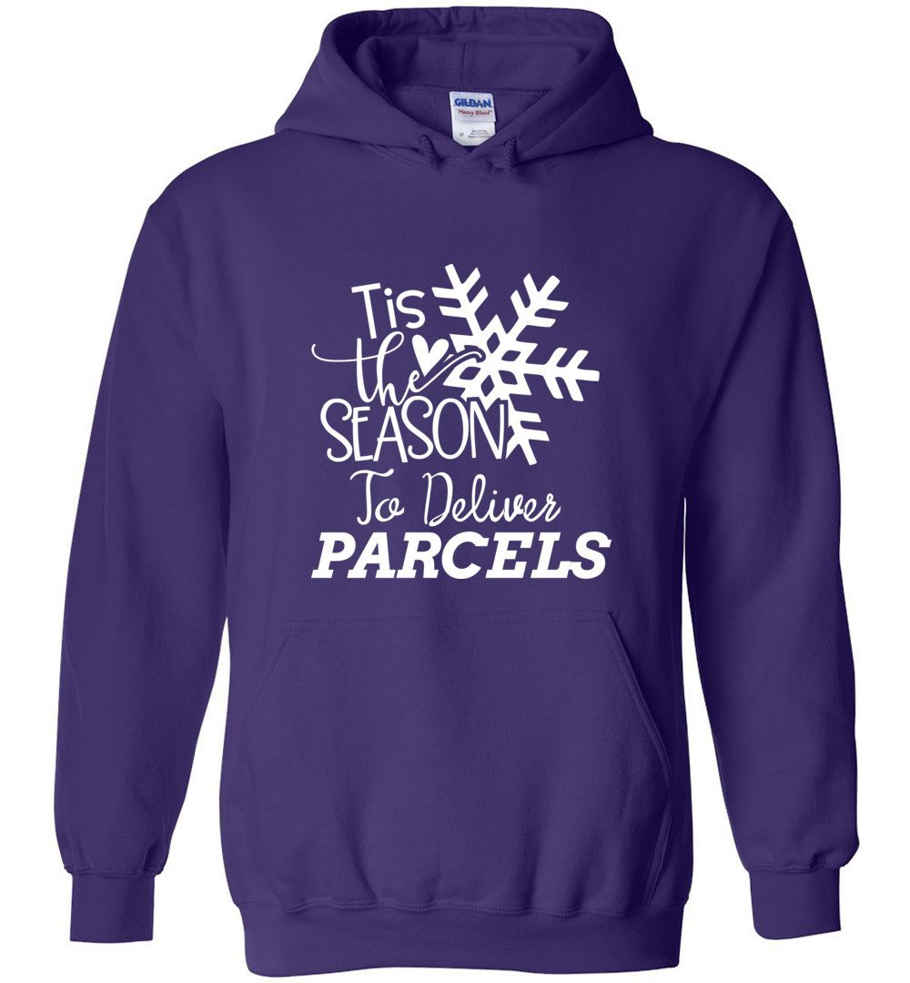 Postal Worker Tees Christmas Hoodie / Purple / S Christmas - Tis the Season to deliver parcels