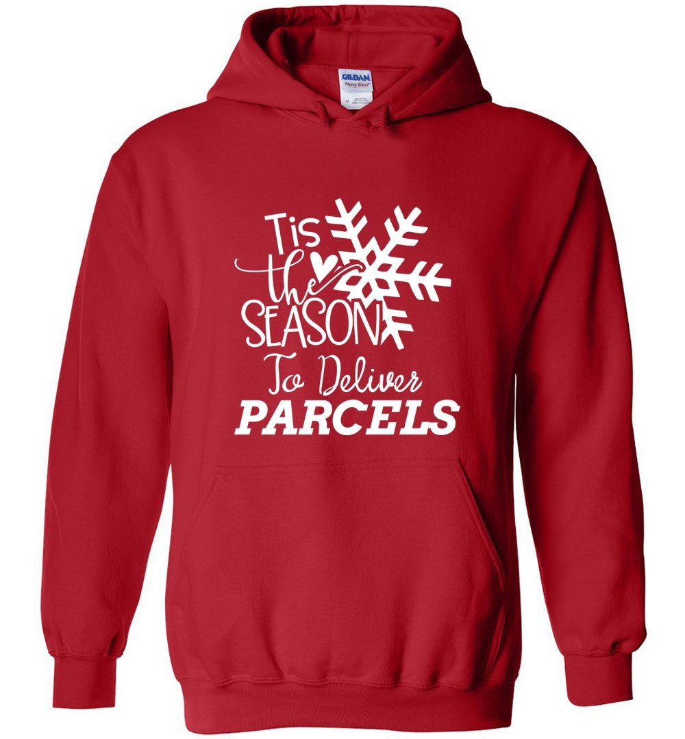 Postal Worker Tees Christmas Hoodie / Red / S Christmas - Tis the Season to deliver parcels