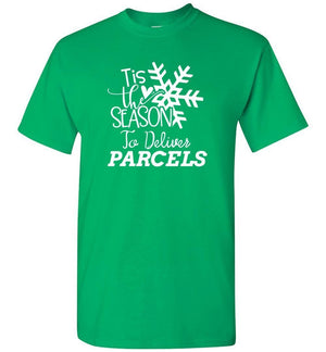 Postal Worker Tees Christmas Unisex T-Shirt / Irish Green / S Christmas - Tis the Season to deliver parcels