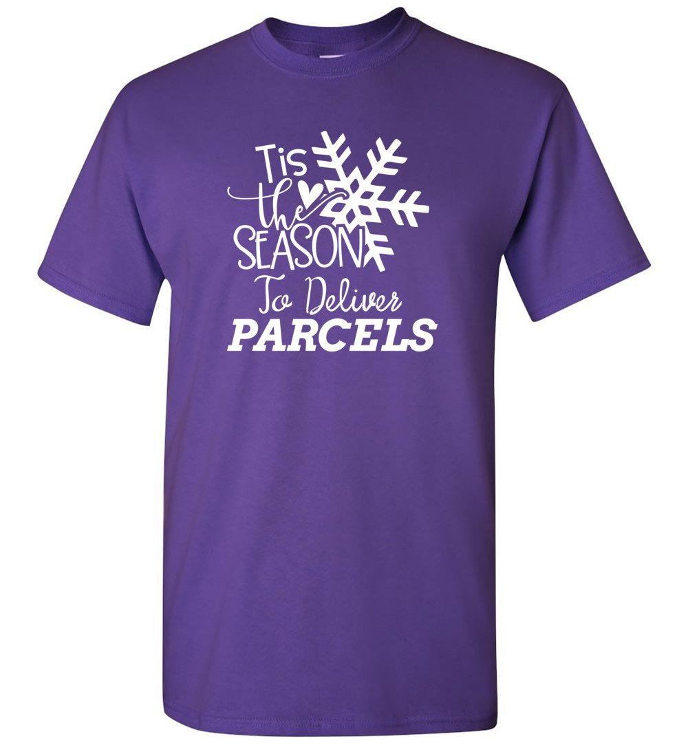 Postal Worker Tees Christmas Unisex T-Shirt / Purple / S Christmas - Tis the Season to deliver parcels