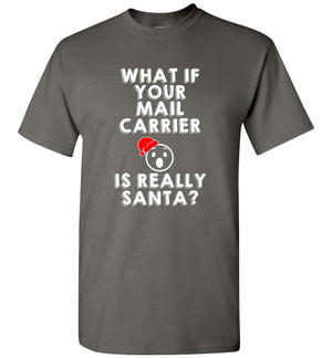Postal Worker Tees Christmas Unisex T-Shirt / Charcoal / S Christmas - What if your mail carrier is really Santa?