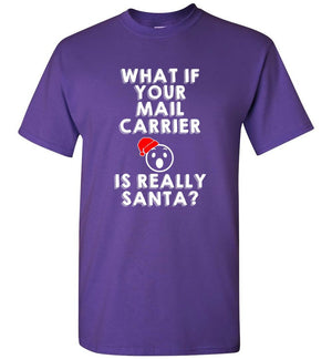 Postal Worker Tees Christmas Unisex T-Shirt / Purple / S Christmas - What if your mail carrier is really Santa?