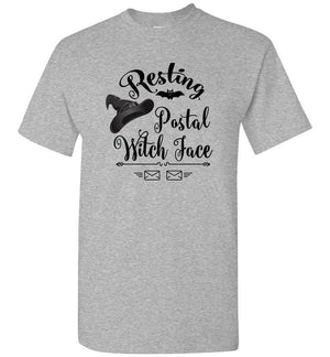 Postal Worker Tees Halloween Unisex T-Shirt / Sports Grey / S Halloween - Resting Postal Witch Face