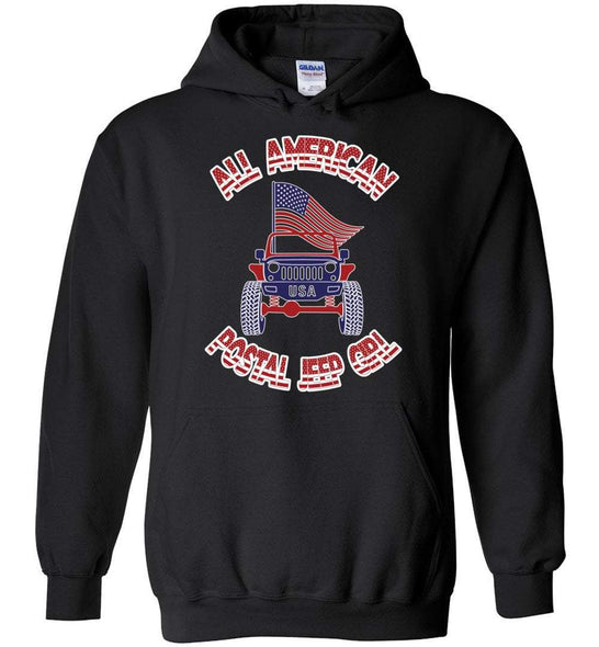 Postal Worker Tees Hoodies Black / S All american postal Jeep girl Hoodie