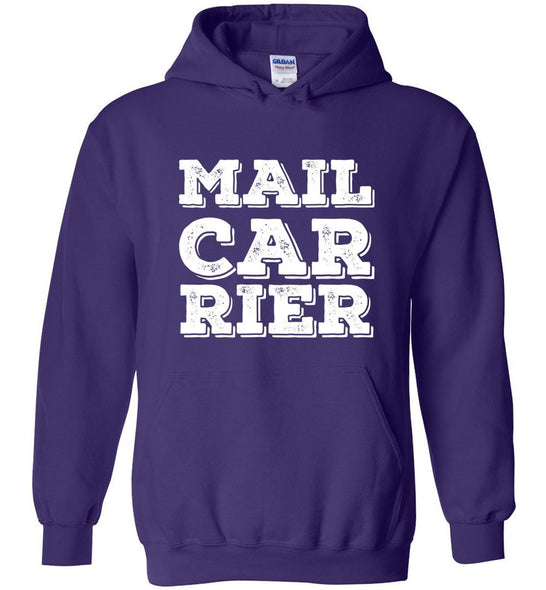 Postal Worker Tees Hoodies Purple / S Big Letter Mail Carrier Hoodie