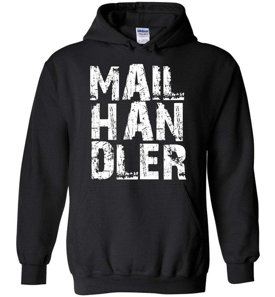 Postal Worker Tees Hoodies Black / S Big Letter Mail Handler Hoodie