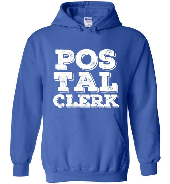 Postal Worker Tees Hoodies Royal Blue / S Big letter Postal Clerk Hoodie