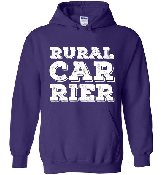 Postal Worker Tees Hoodies Purple / S Big letter Rural Carrier Hoodie