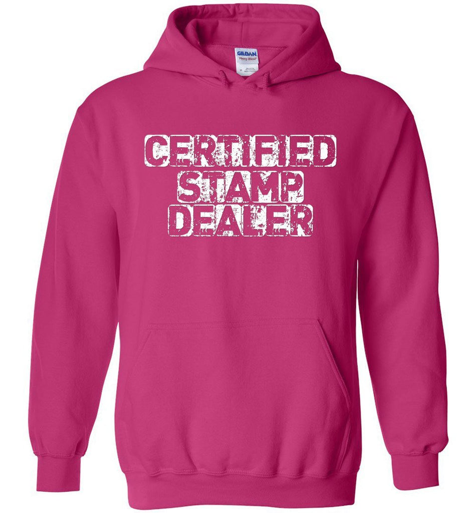 Postal Worker Tees Hoodies Heliconia / S Certified Stamp Dealer Hoodie
