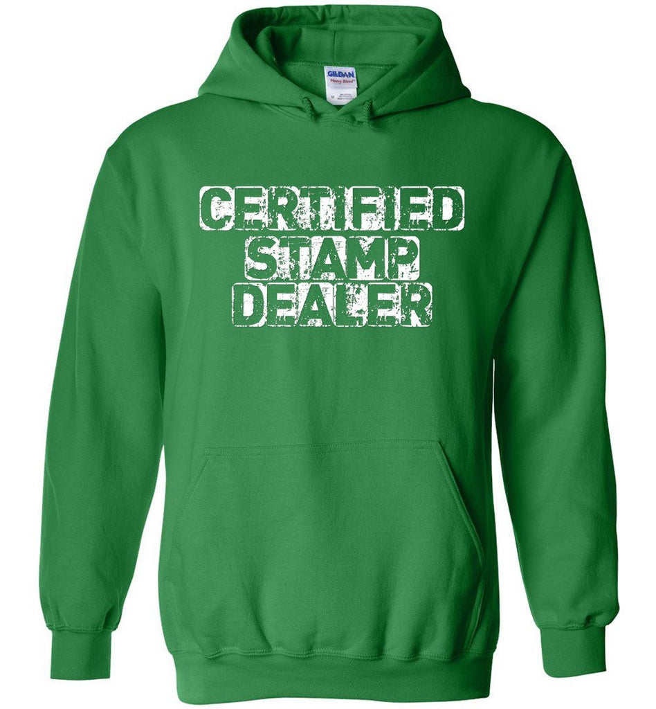 Postal Worker Tees Hoodies Irish Green / S Certified Stamp Dealer Hoodie