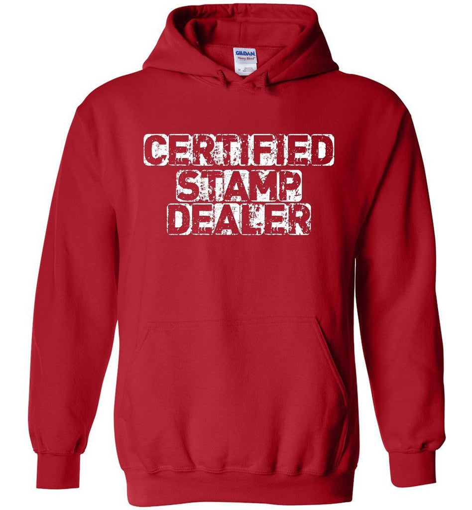Postal Worker Tees Hoodies Red / S Certified Stamp Dealer Hoodie