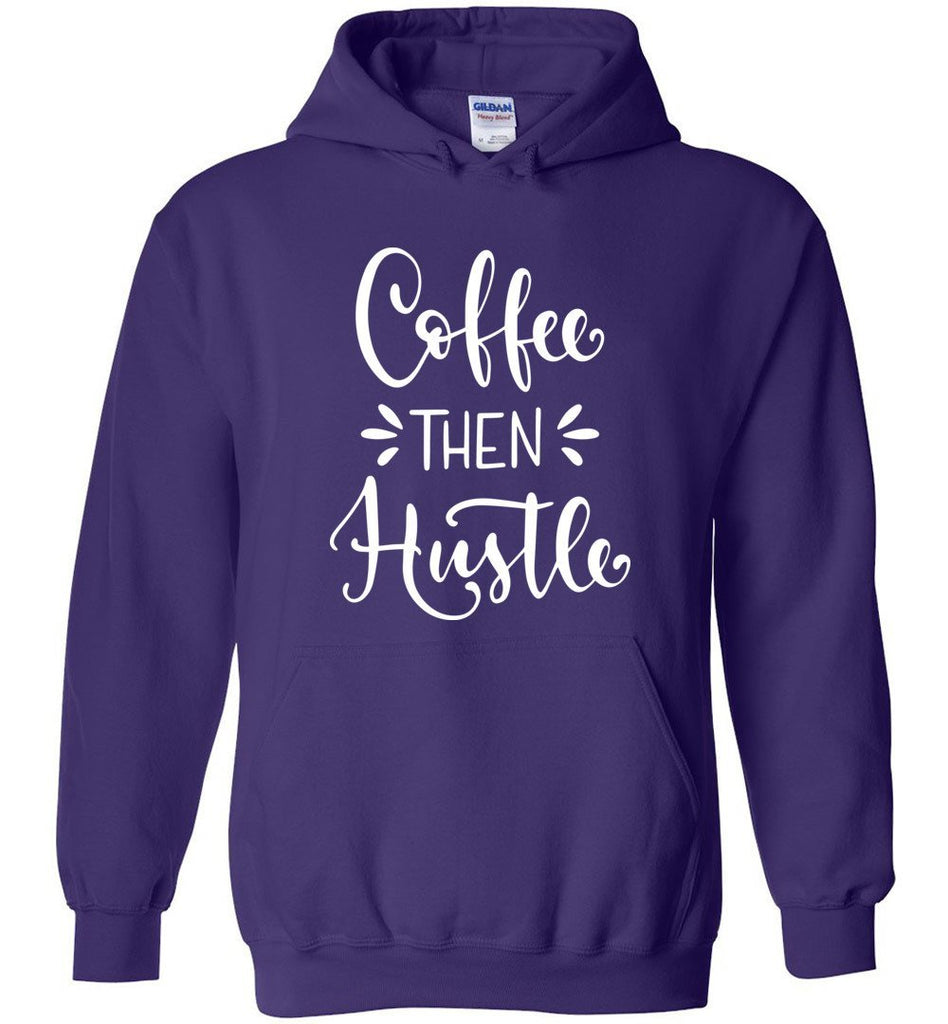 Postal Worker Tees Hoodies Purple / S Coffee then Hustle Hoodie
