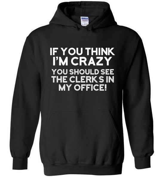 Postal Worker Tees Hoodies Black / S Crazy Clerks Hoodie