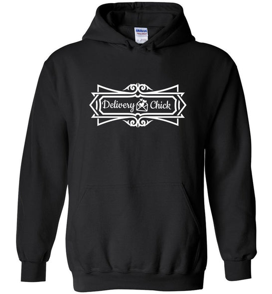 Postal Worker Tees Hoodies Black / S Delivery Chick Decorative Hoodie