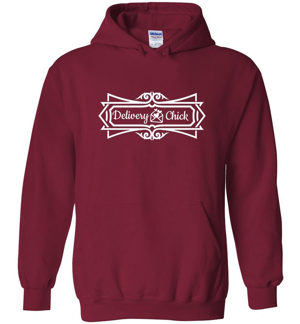 Postal Worker Tees Hoodies Cardinal Red / S Delivery Chick Decorative Hoodie