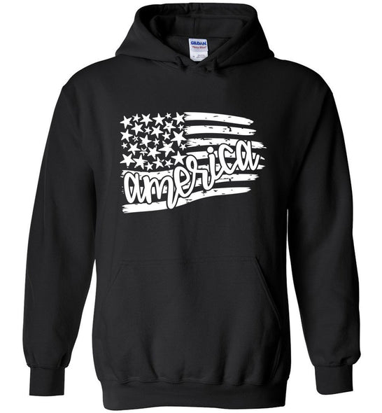 Postal Worker Tees Hoodies Black / S Flag America Hoodie