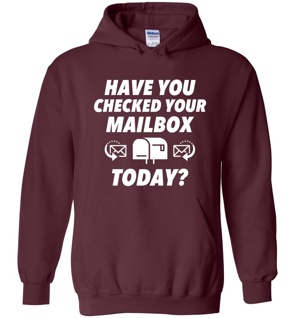 Postal Worker Tees Hoodies Maroon / S Have you checked your mailbox Hoodie