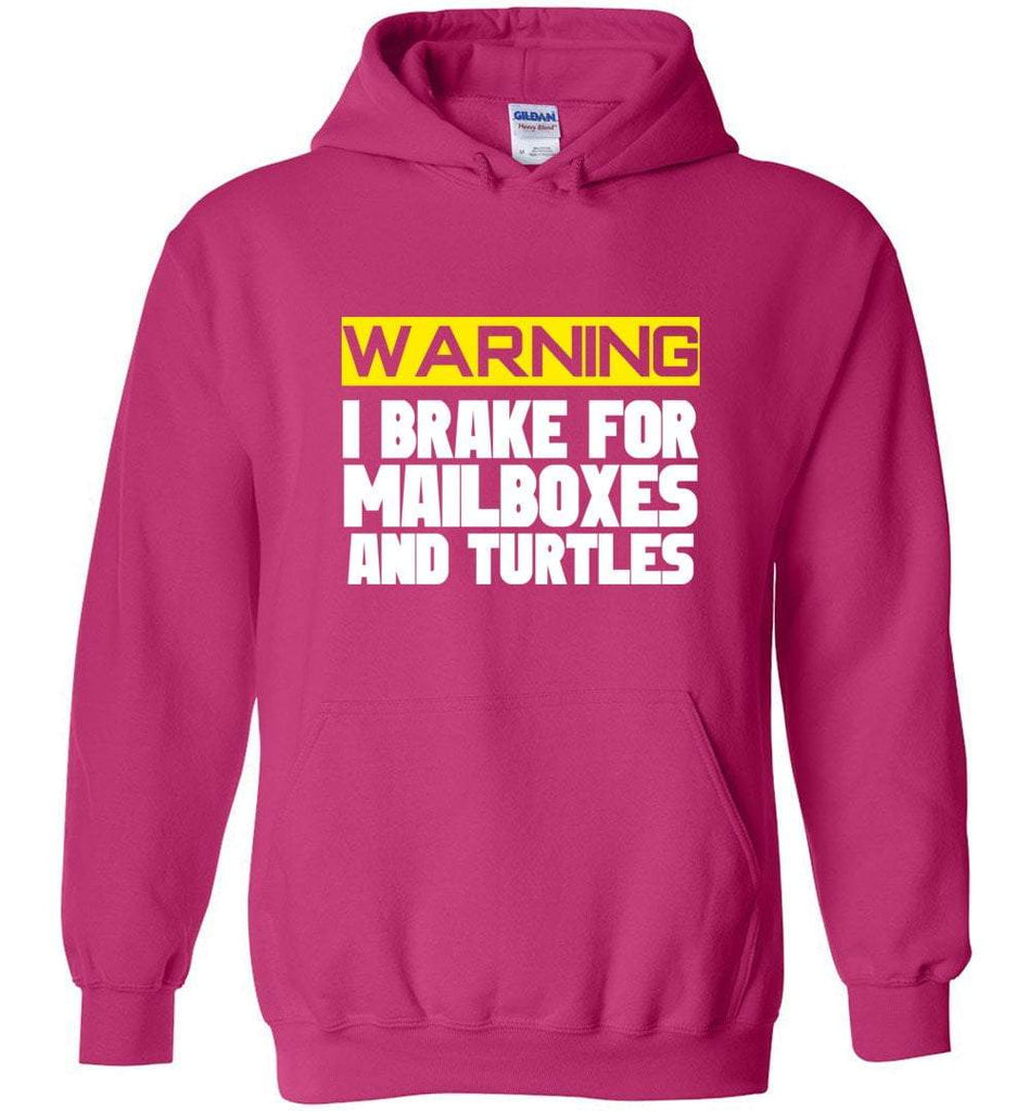 Postal Worker Tees Hoodies Heliconia / S I brake for mailboxes and turtlesHoodie