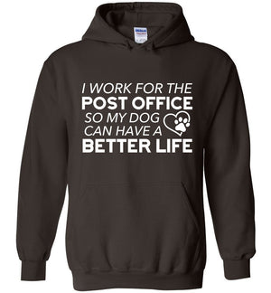 Postal Worker Tees Hoodies Dark Chocolate / S I work for the PO for my dog Hoodie