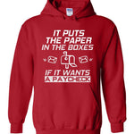 Postal Worker Tees Hoodies Red / S If it wants a paycheck Hoodie