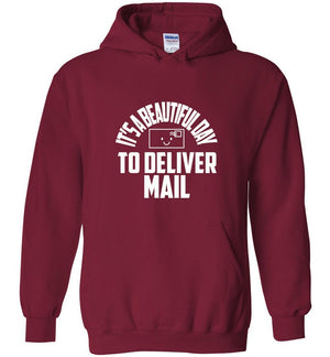 Postal Worker Tees Hoodies Cardinal Red / S It's a beautiful day to deliver mail Hoodie