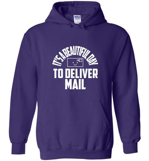 Postal Worker Tees Hoodies Purple / S It's a beautiful day to deliver mail Hoodie