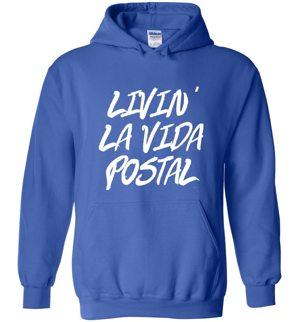 Postal Worker Tees Hoodies Royal Blue / S Livin La Vida Postal Hoodie