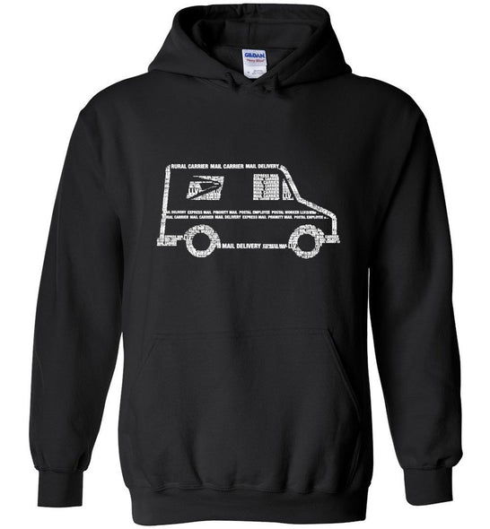 Postal Worker Tees Hoodies Black / S LLV Postal Phrases Word Art Hoodie