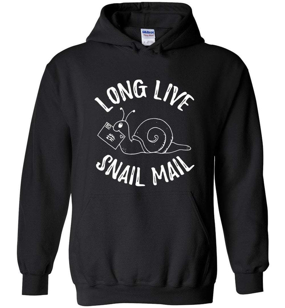 Postal Worker Tees Hoodies Black / S Long live snail mail Hoodie