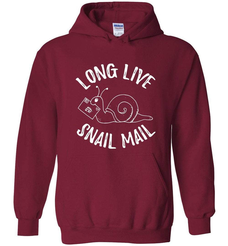 Postal Worker Tees Hoodies Cardinal Red / S Long live snail mail Hoodie