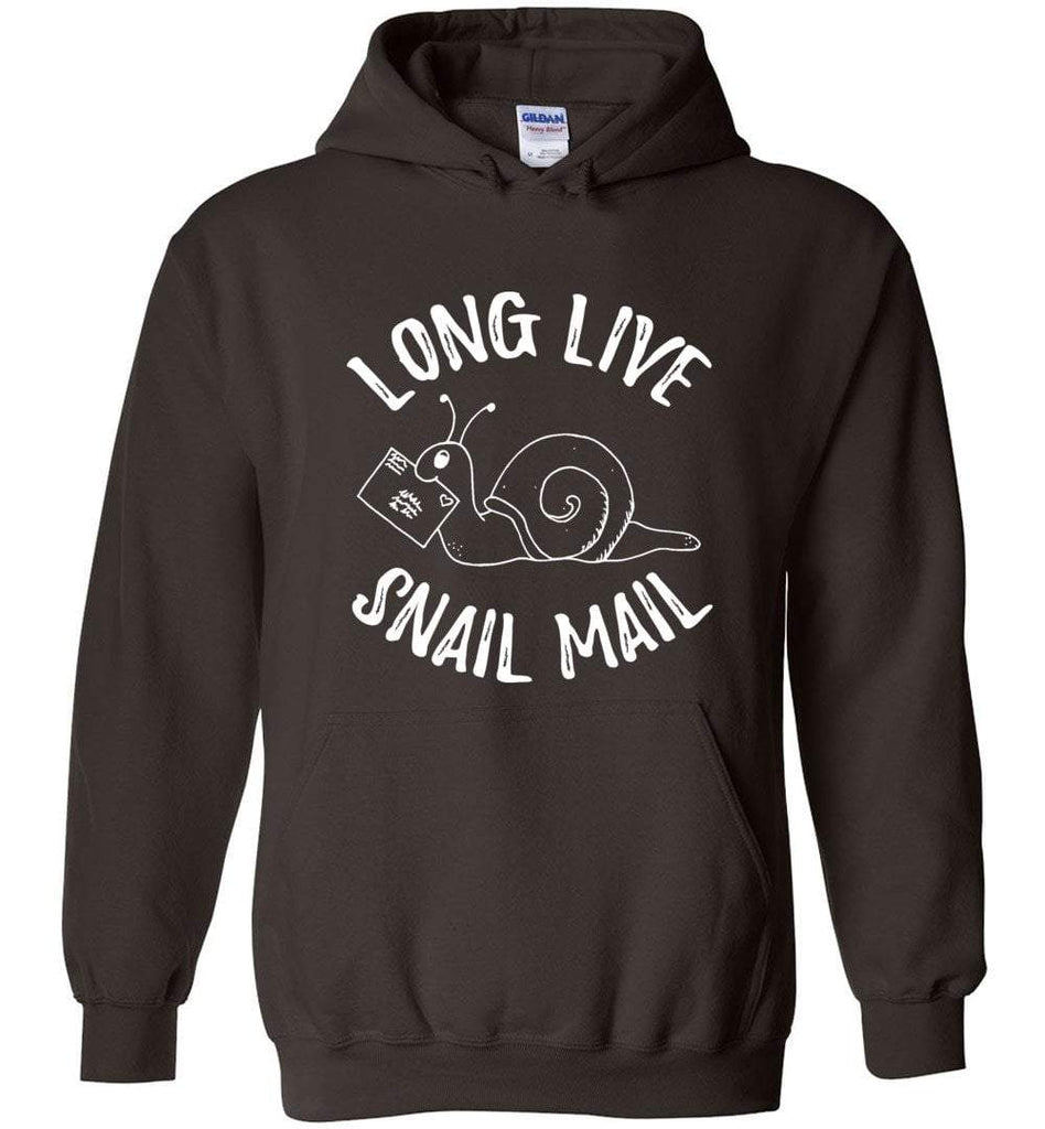 Postal Worker Tees Hoodies Dark Chocolate / S Long live snail mail Hoodie