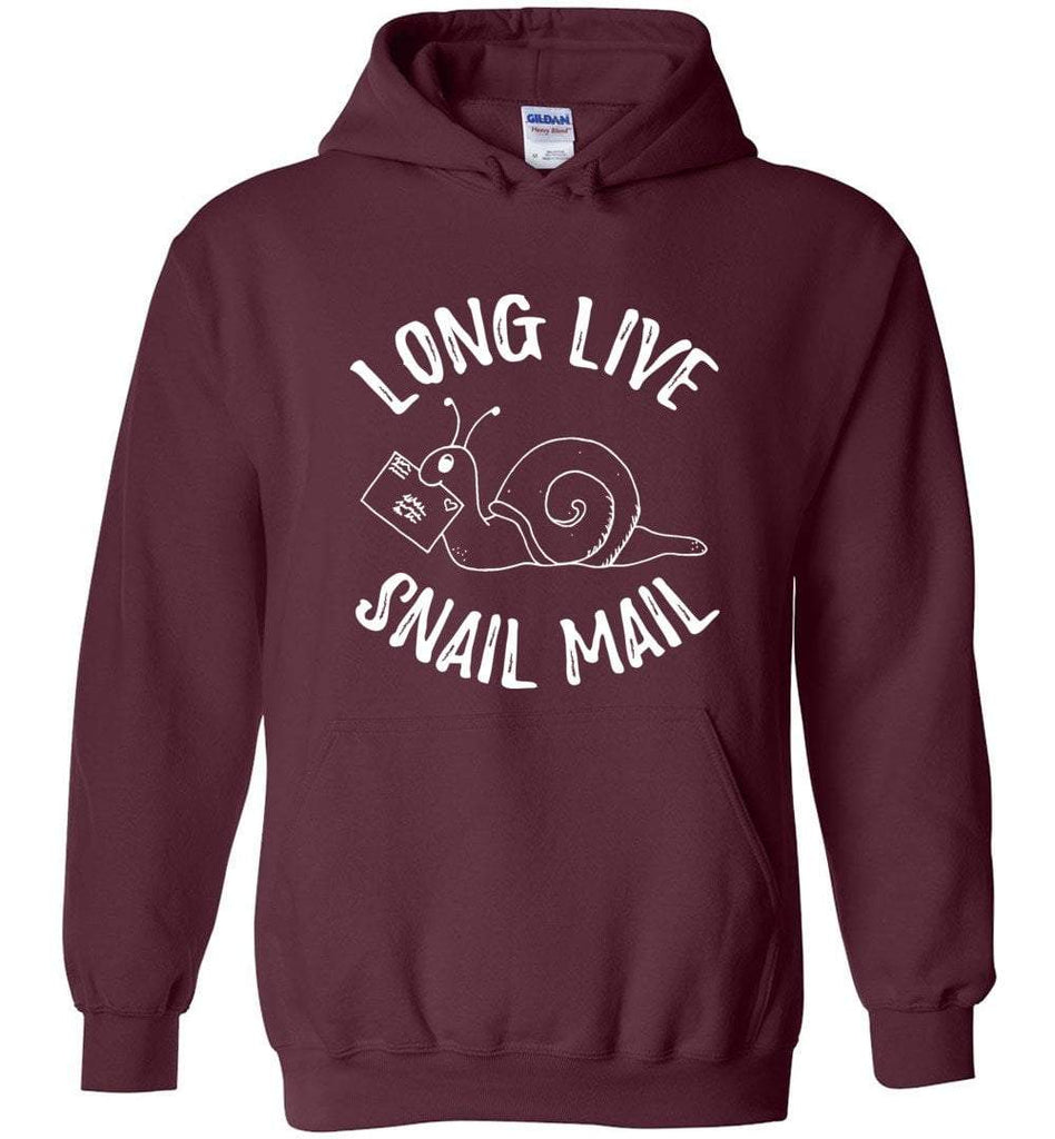 Postal Worker Tees Hoodies Maroon / S Long live snail mail Hoodie