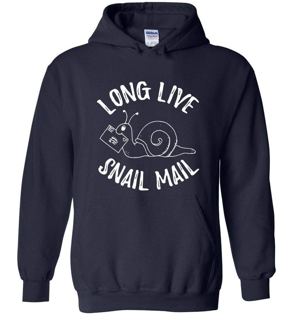 Postal Worker Tees Hoodies Navy / S Long live snail mail Hoodie