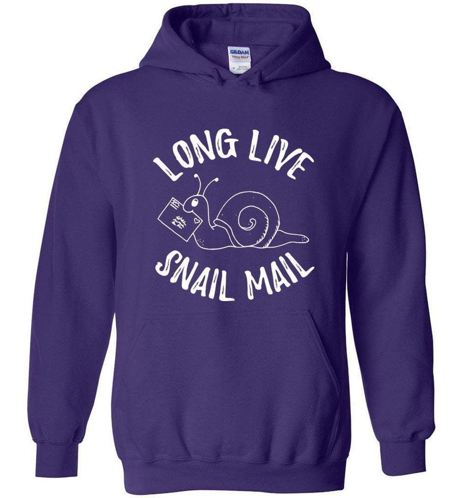 Postal Worker Tees Hoodies Purple / S Long live snail mail Hoodie