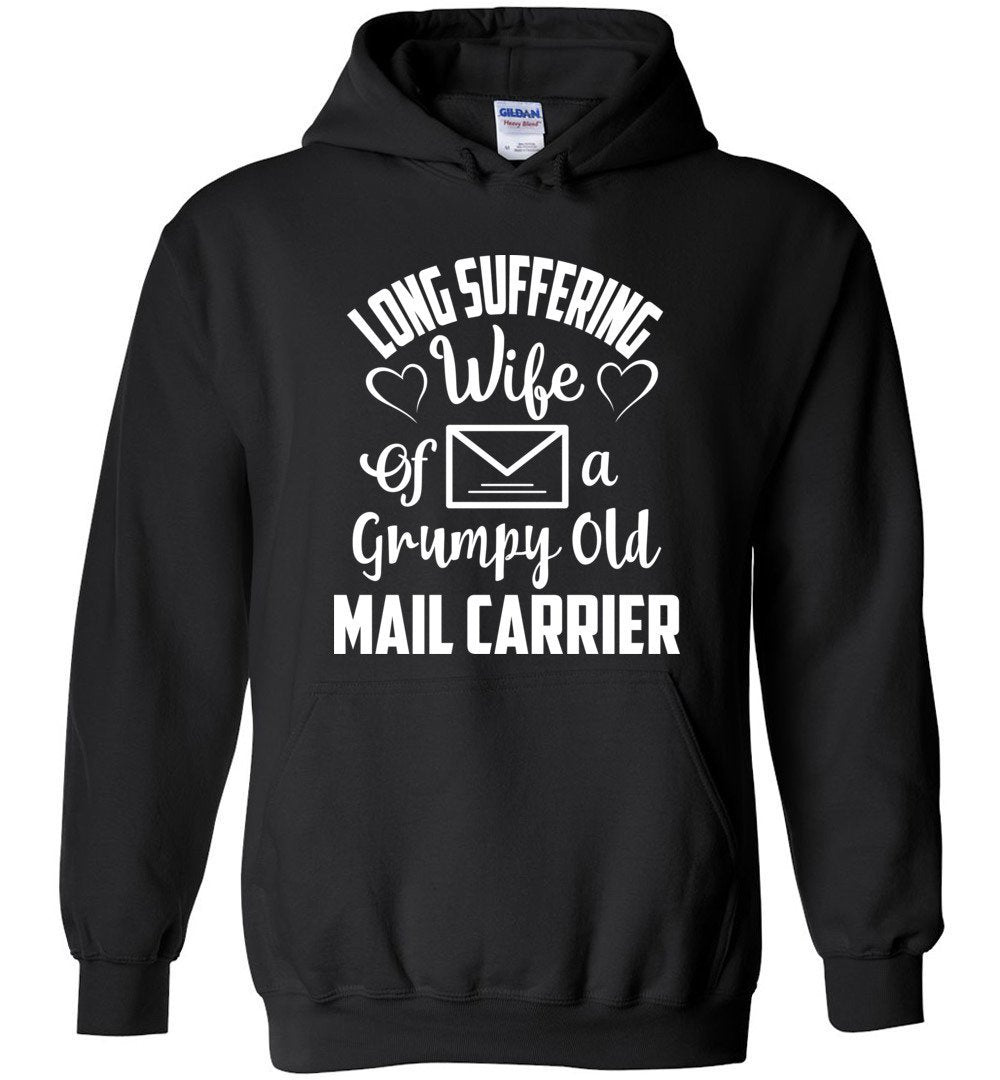 Postal Worker Tees Hoodies Black / S Long suffering wife Hoodie