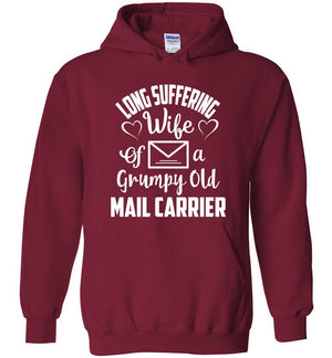 Postal Worker Tees Hoodies Cardinal Red / S Long suffering wife Hoodie