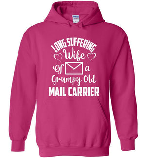 Postal Worker Tees Hoodies Heliconia / S Long suffering wife Hoodie