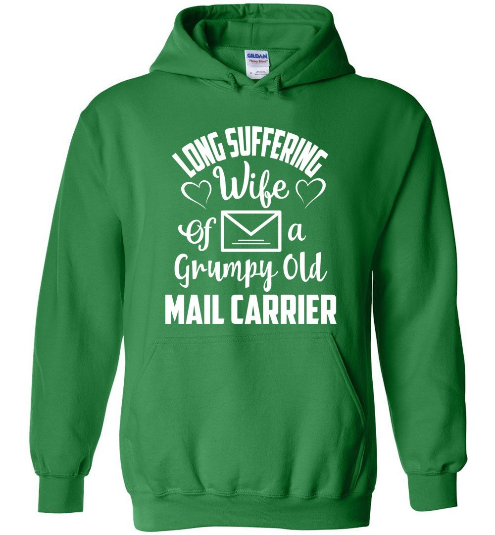 Postal Worker Tees Hoodies Irish Green / S Long suffering wife Hoodie