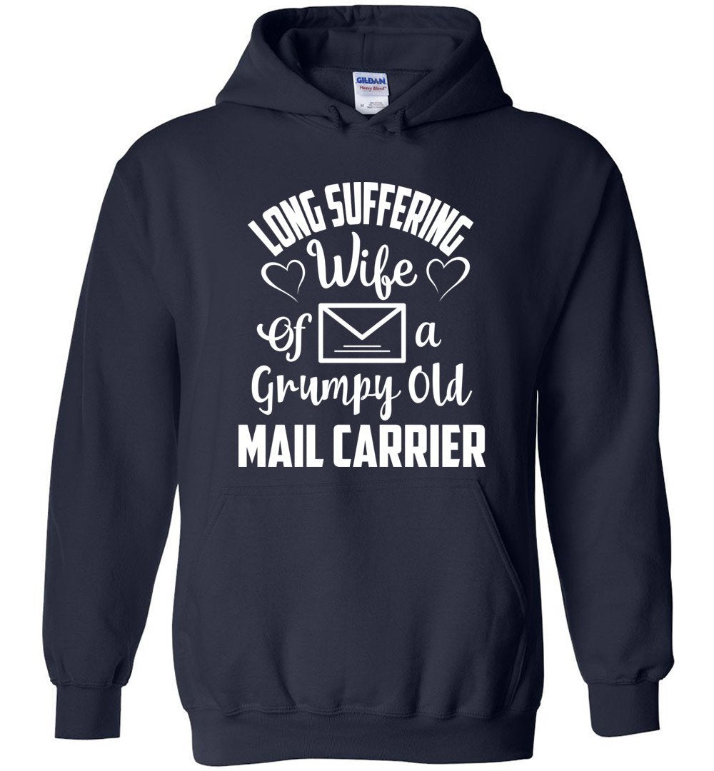 Postal Worker Tees Hoodies Navy / S Long suffering wife Hoodie