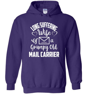 Postal Worker Tees Hoodies Purple / S Long suffering wife Hoodie