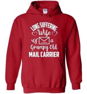 Postal Worker Tees Hoodies Red / S Long suffering wife Hoodie