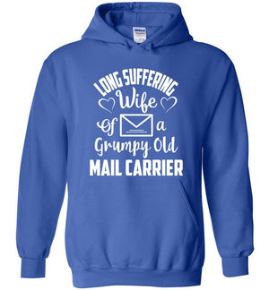 Postal Worker Tees Hoodies Royal Blue / S Long suffering wife Hoodie