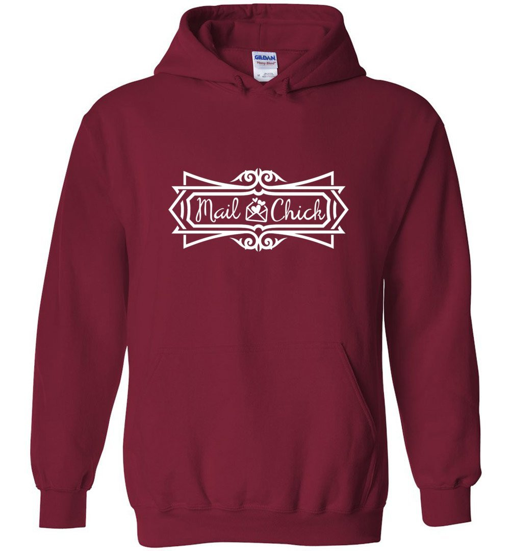 Postal Worker Tees Hoodies Cardinal Red / S Mail Chick with letter Hoodie
