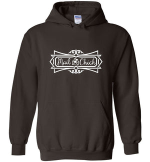 Postal Worker Tees Hoodies Dark Chocolate / S Mail Chick with letter Hoodie