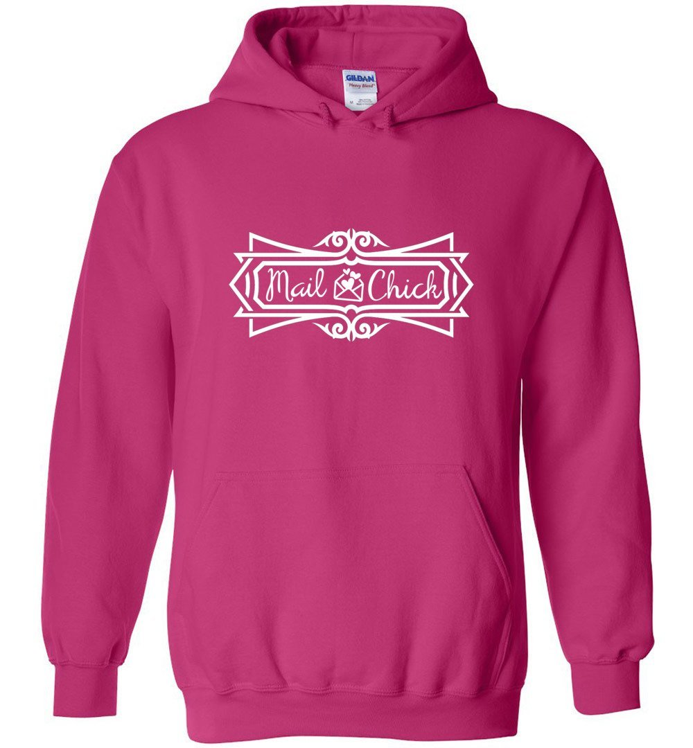 Postal Worker Tees Hoodies Heliconia / S Mail Chick with letter Hoodie