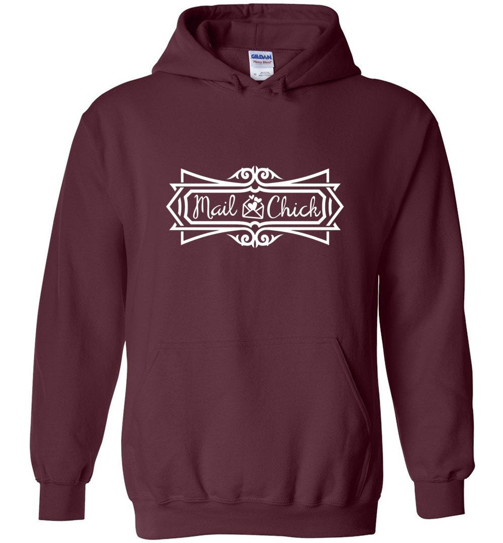 Postal Worker Tees Hoodies Maroon / S Mail Chick with letter Hoodie
