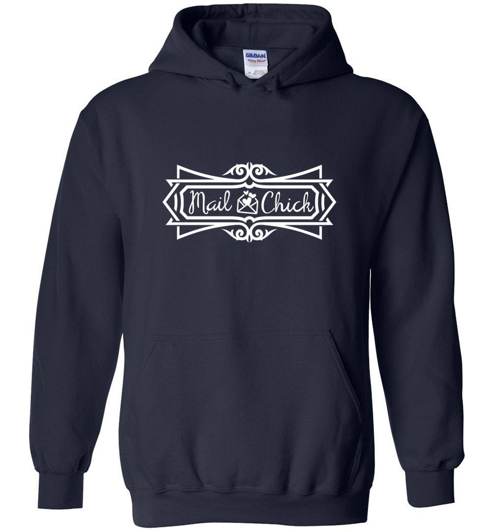 Postal Worker Tees Hoodies Navy / S Mail Chick with letter Hoodie
