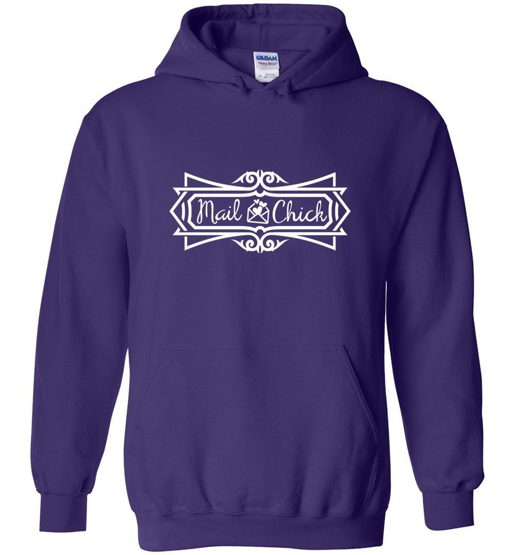 Postal Worker Tees Hoodies Purple / S Mail Chick with letter Hoodie